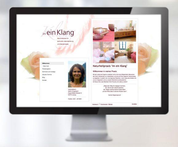 Webdesign für die Naturheilpraxis »im ein Klang« Leipzig