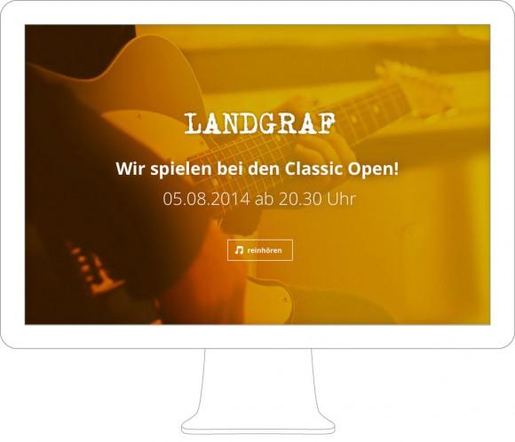 Landgraf Band Webdesign