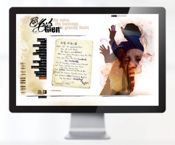 Webdesign für Marla Glen