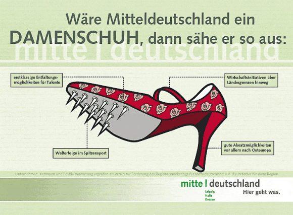 Plakat für Kampagne für Mitteldeutschland