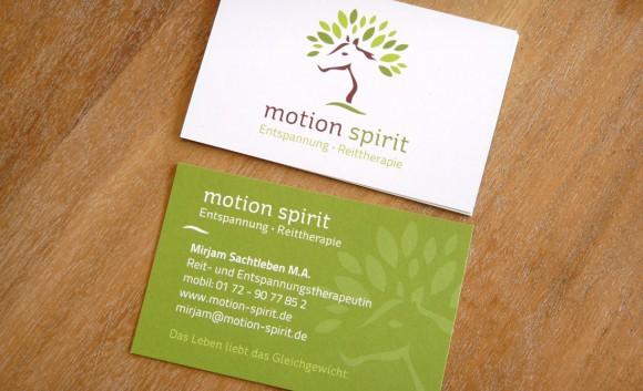 motion spirit Visitenkarte