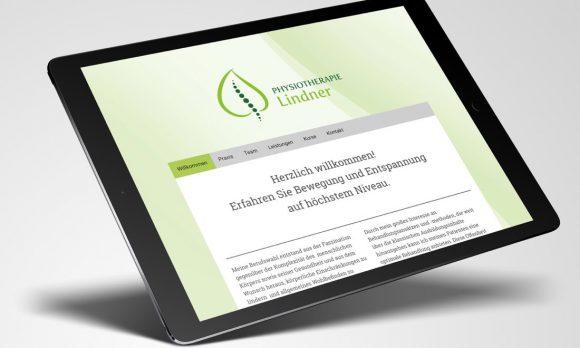 Physiotherapie Lindner Webdesign
