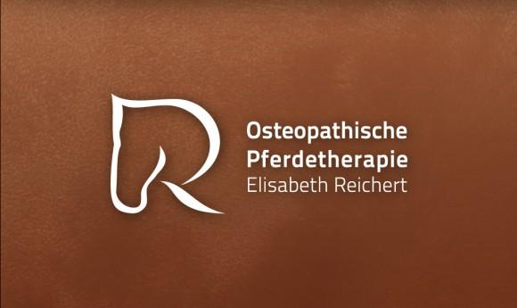 inverses Logo der Osteopathischen Pferdetherapie Elisabeth Reichert