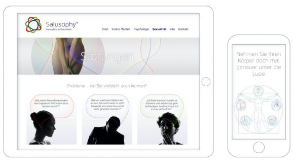 Salusophy Webdesign Mobile