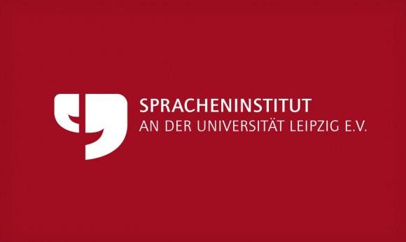 Logo invers des Spracheninstituts an der Universität Leipzig e.V.